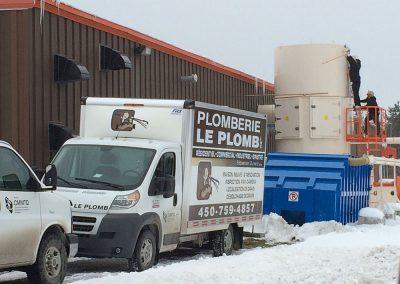Camion de Plomberie le Plomb avec un chauffe haut - Plomberie Le Plomb à Joliette